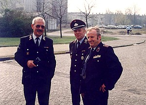 Von links: Wehrführer Wolfgang Herrmann, stellv. Wehrführer Joachim Loris, Wehrführer Herbert Thiel